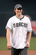 PHOENIX, AZ - APRIL 07:  American country music artist Joe Nichols smiles after throwing out the ceremonial first pitch for the MLB game between the Cleveland Indians and Arizona Diamondbacks at Chase Field on April 7, 2017 in Phoenix, Arizona.  (Photo by Jennifer Stewart/Getty Images)