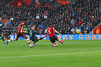 Football - 2019 / 2020 Premier League - Southampton vs. Burnley<br /> <br /> Matej Vydra of Burnley fires in there second goal at St Mary's Stadium Southampton<br /> <br /> COLORSPORT/SHAUN BOGGUST