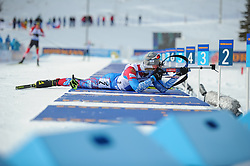 February 8, 2019 - Calgary, Alberta, Canada - Povarnitsyn Alexander (RUS) is competing during Men's Relay of 7 BMW IBU World Cup Biathlon 2018-2019. Canmore, Canada, 08.02.2019 (Credit Image: © Russian Look via ZUMA Wire)