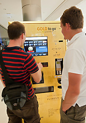 Gold to Go vending machine in Burj Khalifa in Dubai United Arab Emirates UAE