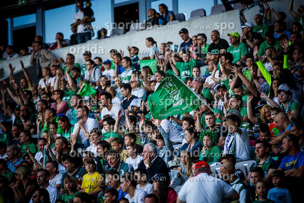NK Olimpija Ljubljana fans during football match between NK Krka and NK Olimpija Ljubljana in Round #36 of Prva liga Telekom Slovenije 2015/16, on May 21, 2016, in Stozice, Ljubljana, Slovenia. Photo by Grega Valancic / Sportida