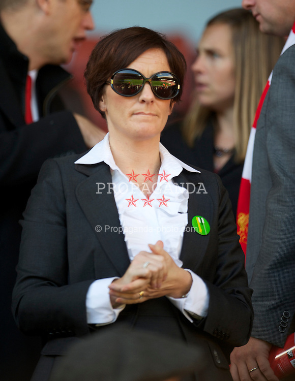LIVERPOOL, ENGLAND - Sunday, October 24, 2010: Liverpool's solicitor Natalie Wignall during the Premiership match against Blackburn Rovers at Anfield. (Photo by David Rawcliffe/Propaganda)