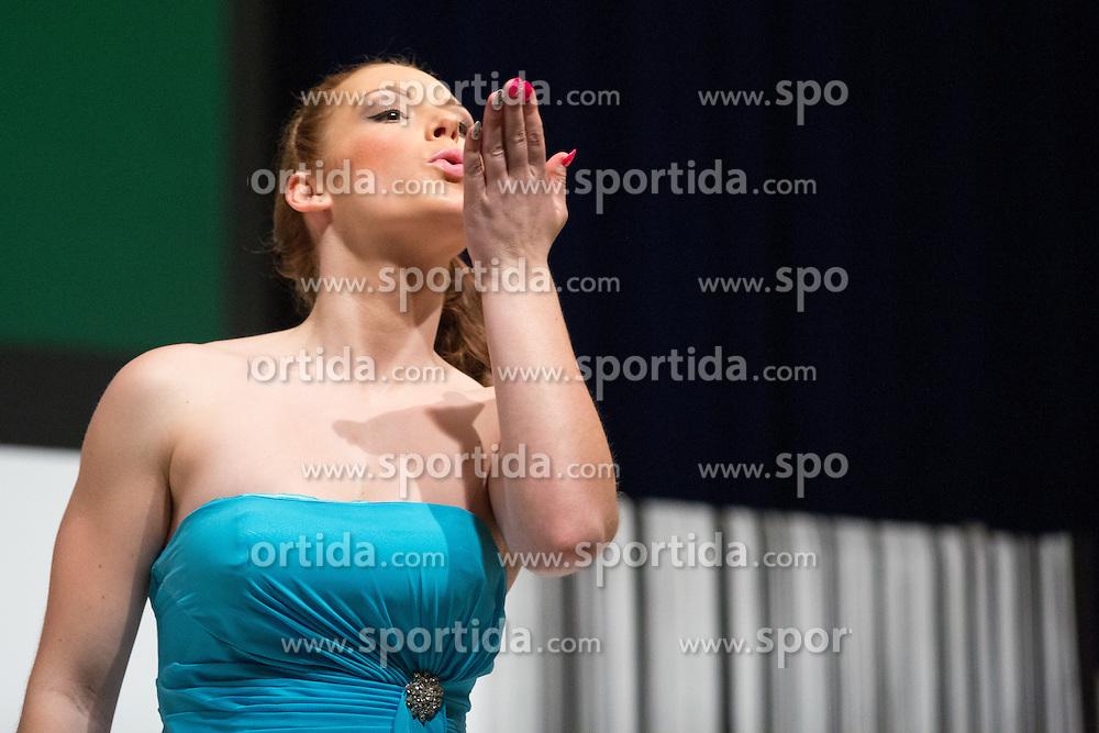 Sara Jambrovic at Miss Sports of Slovenia 2015, on April 18, 2015, in Festivalna dvorana, Ljubljana, Slovenia