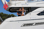 EXCLUSIVE<br /> Sam Faiers looked stunning as she and sister Billie took to the water in Ibiza during there week long break<br /> ©Exclusivepix Media