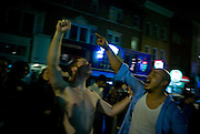 Washington DC Celebration..people take to streets of the Adams Morgan neighborhood (popular late night area) to celebrate Obama's victory...Washington, DC 11/04/2008