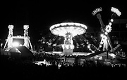 A theme park lit up at night, Big Day Out Festival, Perth, Australia 1990s.