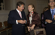 Ulrich Graf & Goesse-Ensenberg and Adelaide de Vivie de Regie. Launch of ' The World of Private Castles, Palaces and Estates. Syon House. 31 October 2005. ONE TIME USE ONLY - DO NOT ARCHIVE © Copyright Photograph by Dafydd Jones 66 Stockwell Park Rd. London SW9 0DA Tel 020 7733 0108 www.dafjones.com