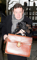 © London News Pictures. 09/02/2013 . London, UK. Stephen Rossides, Director of the British Meat Processors Association,  arriving at the Department for the Environment, Food and Rural Affairs in London where Secretary of State for Environment, Food and Rural Affairs, Owen Paterson is holding a summit to discuss the unfolding scandal over horsemeat being found in various products.. Photo credit : Ben Cawthra/LNP
