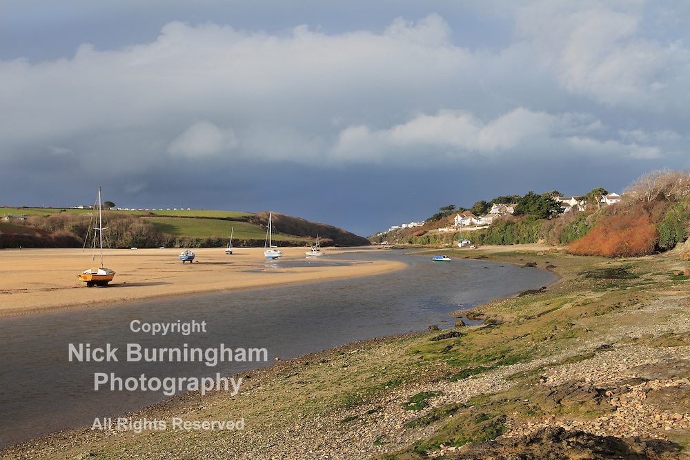 River Gannel in Newquay, Cornwall, UK