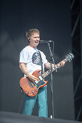 Lead vocalist and guitarist Conor Mason, Nothing But Thieves on the main stage, Sunday 1st July at TRNSMT 2018.