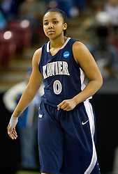 March 29, 2010; Sacramento, CA, USA; Xavier Musketeers guard Tyeasha Moss (0) during the first half against the Stanford Cardinal in the finals of the Sacramental regional in the 2010 NCAA womens basketball tournament at ARCO Arena. Stanford defeated Xavier 55-53.