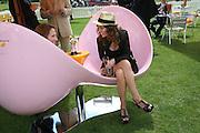 Lauren Carter and Mrs. Amanda Lucas, The Veuve Clicquot Gold Cup 2007. Cowdray Park, Midhurst. 22 July 2007.  -DO NOT ARCHIVE-© Copyright Photograph by Dafydd Jones. 248 Clapham Rd. London SW9 0PZ. Tel 0207 820 0771. www.dafjones.com.