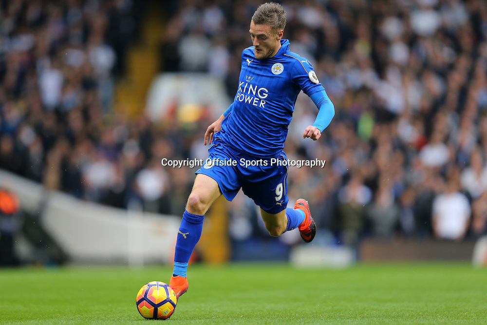 29 October 2016 - Premier League - Tottenham Hotspur v Leicester City - Jamie Vardy of Leicester City - Photo: Marc Atkins / Offside.
