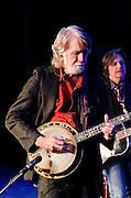 John McEuen on banjo and Jeff Hanna on guitar during their performance with Nitty Gritty Dirt Band at the Landis Theater in Vineland, NJ.