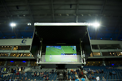 October 14, 2017 - Gent, BELGIUM - Illustration picture shows a video referee monitor before the Jupiler Pro League match between KAA Gent and Waasland-Beveren, in Gent, Saturday 14 October 2017, on the day ten of the Jupiler Pro League, the Belgian soccer championship season 2017-2018. BELGA PHOTO JASPER JACOBS (Credit Image: © Jasper Jacobs/Belga via ZUMA Press)