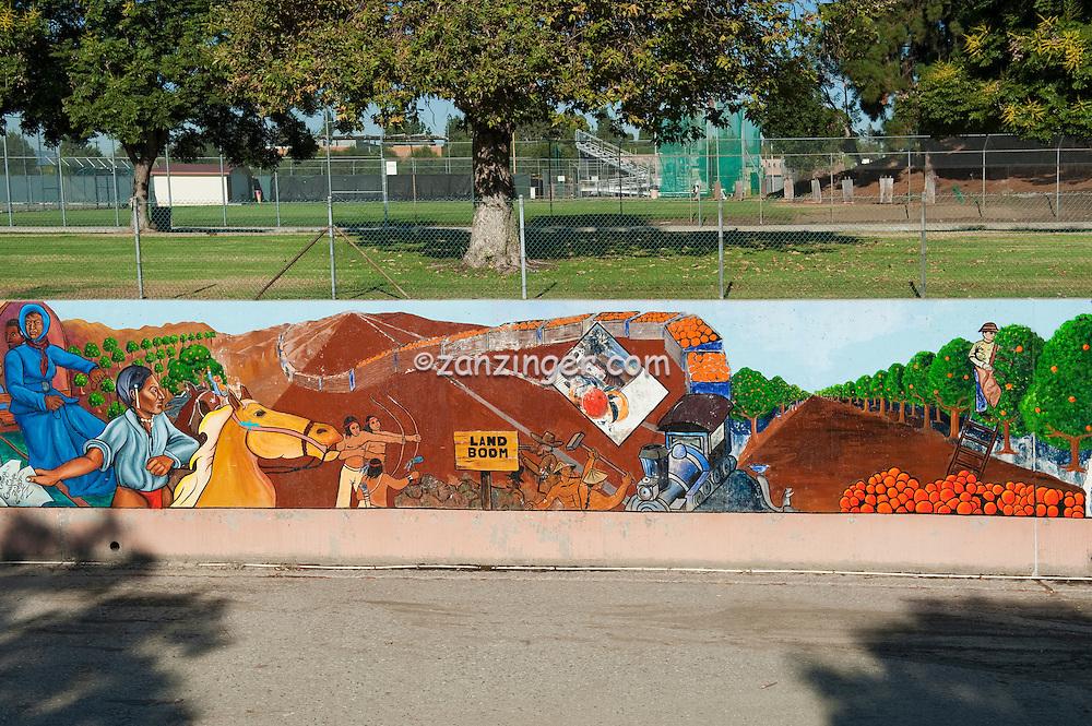 """Land Boom"" Great Wall Mural, Los Angeles, CA, Tujunga Wash, Sub Watershed, LA River, San Fernando Valley,"