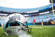 December 24, 2017: CAR vs TB. Panthers' helmet