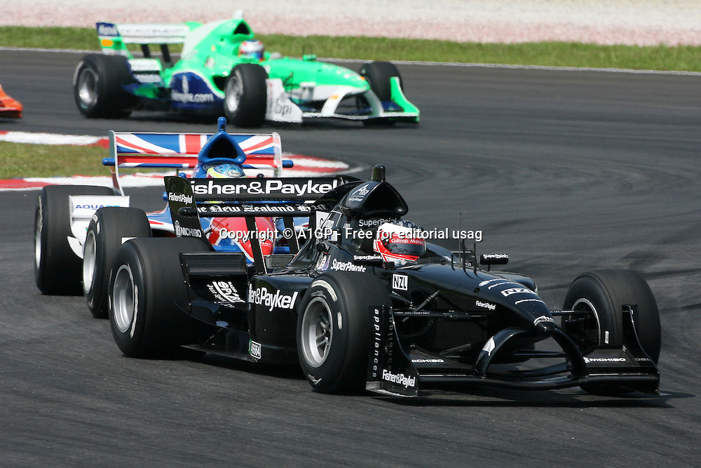 25.11.2007 Selangor, Malaysia, <br />Jonny Reid (NZL), driver of A1 Team New Zealand - A1GP World Cup of Motorsport 2007/08, Round 3, Sepang, Sunday Race 1 - Copyright A1GP - Free for editorial usage