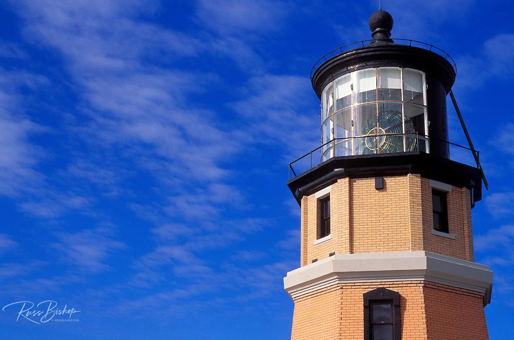 Morning light on detail of Split Rock on the north shore of Lake Superior, Split Rock Lighthouse State Park, Minnesota