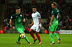 Alex Oxlade-Chamberlain of England passes the ball - Mandatory by-line: Robbie Stephenson/JMP - 05/10/2017 - FOOTBALL - Wembley Stadium - London, United Kingdom - England v Slovenia - World Cup qualifier