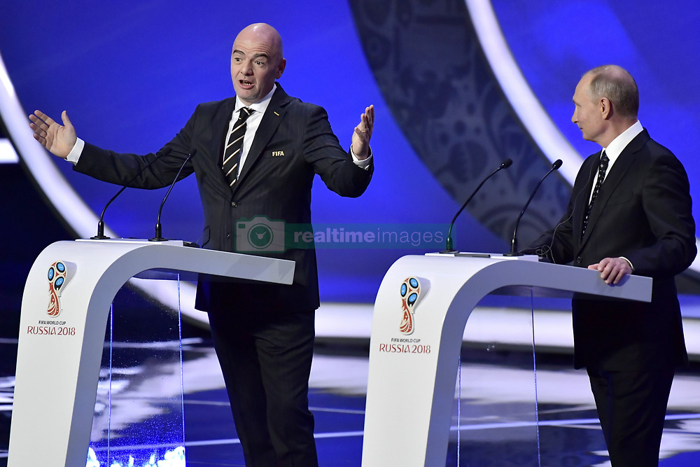 December 1, 2017 - Moscou, Russie - MOSCOW, RUSSIA - DECEMBER 1 : Gianni Infantino president of the FIFA and president of Russia Vladimir Poetin pictured during the FIFA World Cup Russia 2018 Final Draw in the State Kremlin Palace on December 01, 2017 in Moscow, Russia, 1/12/2017 (Credit Image: © Panoramic via ZUMA Press)