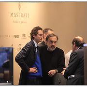 John Elkann con Marchionne.Salone dell'auto di Ginevra 2012.Geneve international motor show