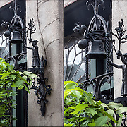 St. John's Courtyard Garden Folk Art Bell.<br /> <br /> St. John&rsquo;s in the Village Episcopal Church at 224 Waverly  Place, NYC.<br /> <br />   www.stjvny .org.