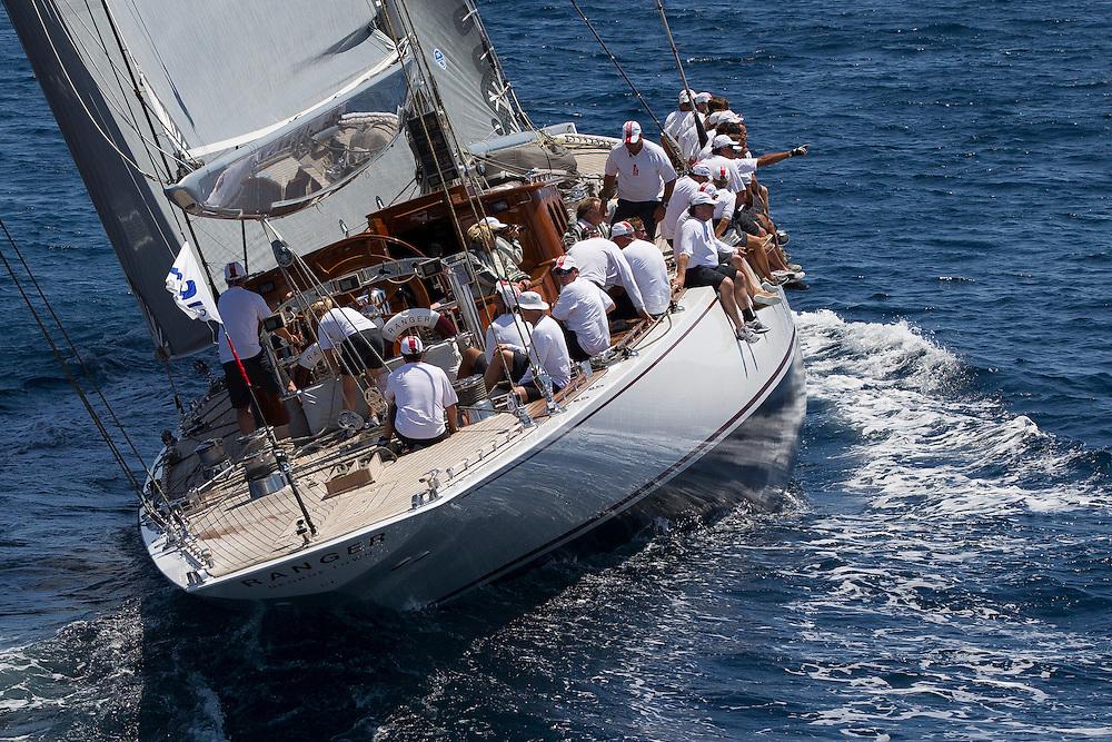 SPAIN, Palma. 21st June 2013. Superyacht Cup. J Class. Race three, coastal race. Ranger.