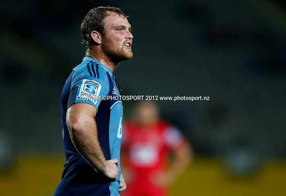 Blues captain Luke Braid during the Super Rugby game between The Blues and The Reds at Eden Park, Auckland, New Zealand, Friday 27 April 2012. Photo: Simon Watts / photosport.co.nz