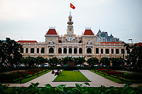 The Saigon People's Committee building in downtown Ho Chi Minh City, Vietnam.