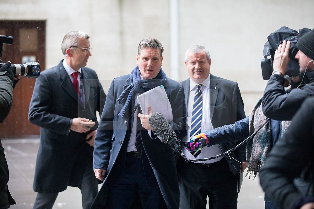 © Licensed to London News Pictures. 10/12/2017. London, UK. Shadow Secretary of State for Exiting the European Union Sir Keir Starmer leaving BBC Broadcasting House after appearing on The Andrew Marr Show this morning. Photo credit : Tom Nicholson/LNP