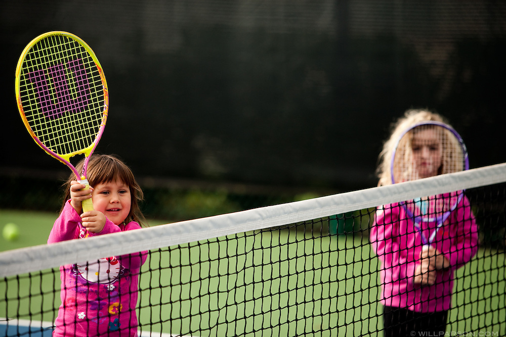 Emma Alberga, 4, and Sydney Bold, 4.