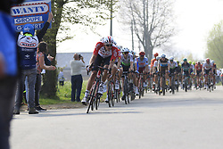 The peloton in Brakel during the 2019 Ronde Van Vlaanderen 270km from Antwerp to Oudenaarde, Belgium. 7th April 2019.<br /> Picture: Eoin Clarke | Cyclefile<br /> <br /> All photos usage must carry mandatory copyright credit (© Cyclefile | Eoin Clarke)