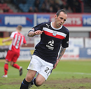 Mark Stewart after scoring - Dundee v Kilmarnock -  Clydesdale Bank Scottish Premier League . .© David Young - www.davidyoungphoto.co.uk - email: davidyoungphoto@gmail.com