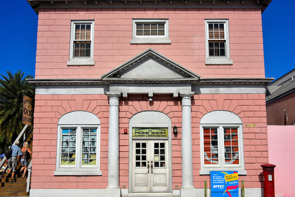 Pompey Museum of Slavery in Nassau, Bahamas<br /> The British transported more than three million Africans to the Americas and their West Indies territories until the import practice ended with the Slave Trade Act of 1807. In 1833, the U.K. Parliament passed the Slavery Abolition Act aimed at emancipating slaves. Yet active trade continued in Nassau at the Vendue House (a French word meaning sold) for several more decades. In 1922, this former slave marketplace became the Pompey Museum of Slavery and Emancipation.  Its namesake is a rebellious slave from the John Rolle Plantation. In 1830, Pompey defied his owner and became a hero for the cause of freedom.