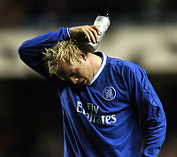 Photo: Richard Lane, Digitalsport<br /> NORWAY ONLY<br /> <br /> Chelsea v AS Monaco. UEFA Chapions League Semi Final. 05/05/2004.<br /> Eider Gudjohnsen breaks into tears as Chelsea go out of the Champions League.