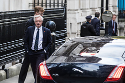 © Licensed to London News Pictures. 09/11/2017. London, UK. Secretary of State for Exiting the European Union David Davis seen on Downing Street. Photo credit: Rob Pinney/LNP