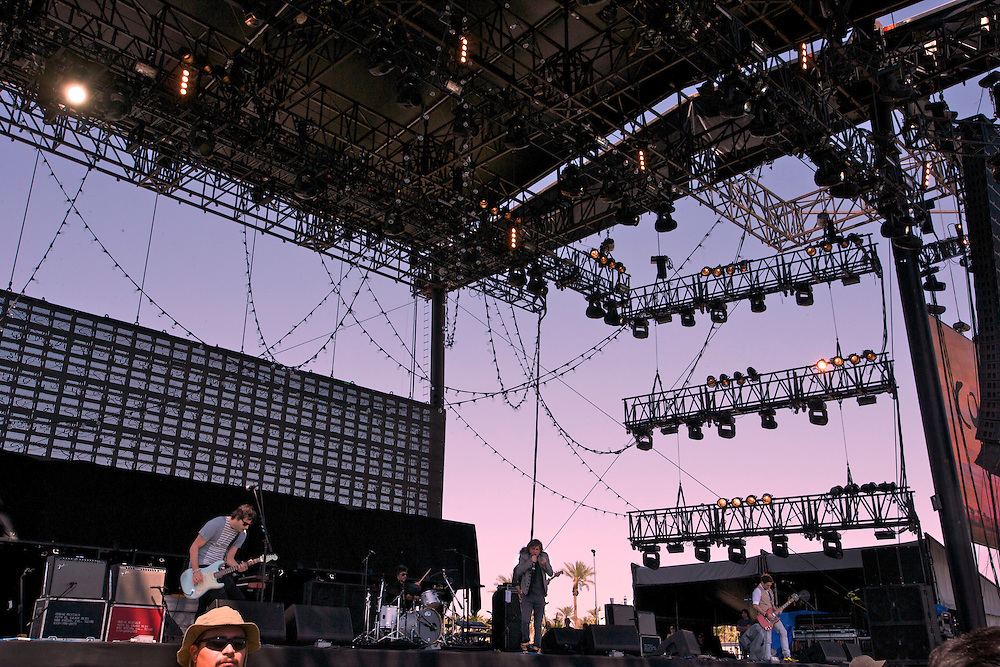 Babasonicos performing at Coachella 2010