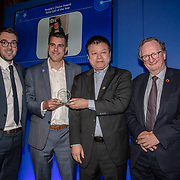 Represent for Ibrahim Gedeon winner of People's Choice Award of the 5G Awards ceremony at Drapers' Hall, on 12 June 2019, London, UK.