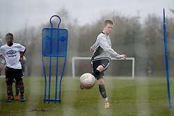 CARDIFF, WALES - Thursday, March 15, 2012: Wales U16's Corrig McGonigle (Ysgol David Hughes) during a training session at the Glamorgan Sports Park. (Pic by David Rawcliffe/Propaganda)