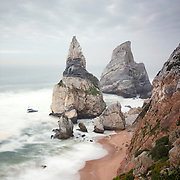 View of stacks at Ursa Beach, Portugal