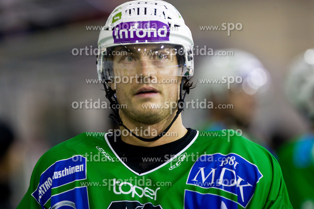 Burke Henry of Tilia Olimpija at ice-hockey match in 33rd Round of EBEL league between HDD Tilia Olimpija Ljubljana and EC KAC, Klagenfurt, on December 18, 2009, in Arena Tivoli, Ljubljana, Slovenia. Olimpija defeated KAC 4:2. (Photo by Vid Ponikvar / Sportida)