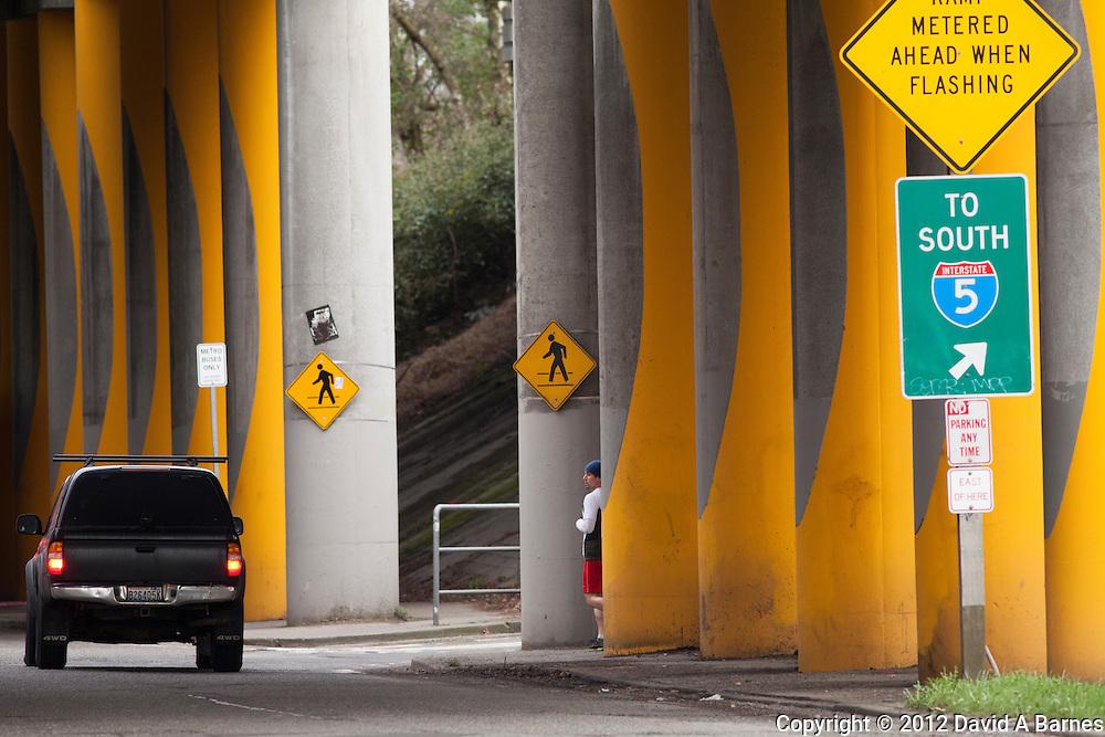 Interstate 5, entrance, Seattle, Washington