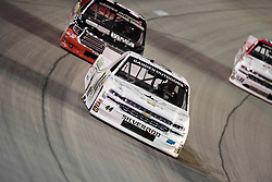 March 1, 2019 - Las Vegas, Nevada, U.S. - LAS VEGAS, NV - MARCH 01: Timothy Peters (44) Niece Motorsports Chevrolet Silverado racing during the Gander Outdoors Truck Series Strat 200 race on March 1, 2019, at Las Vegas Motor Speedway in Las Vegas, NV. (Photo by David Allio/Icon Sportswire) (Credit Image: © David Allio/Icon SMI via ZUMA Press)