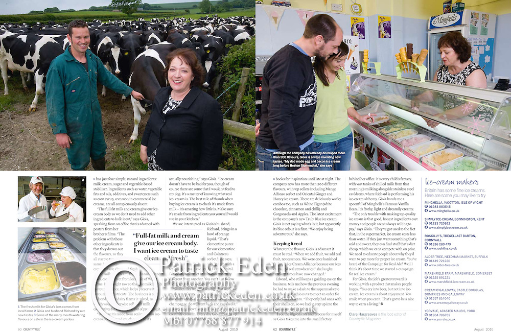 Gioia Mighella, BBC Country File Magazine, Food Heroes, Isle of Wight, photography, by, photographer, Patrick Eden,
