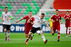 Vincent Rabiega of Poland vs Pascal Itter of Germany during the UEFA European Under-17 Championship Semifinal match between Germany and Poland on May 13, 2012 in SRC Stozice, Ljubljana, Slovenia. (Photo by Vid Ponikvar / Sportida.com)