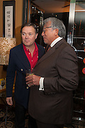 HOWARD BARCLAY; SIR DAVID TANG, Chinese New Year dinner given by Sir David Tang. China Tang. Park Lane. London. 4 February 2013.