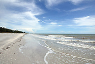 A rare moment of quiet on a Sanibel Island, Florida, beach.