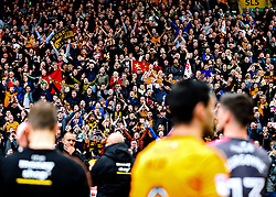 Wolverhampton Wanderers fans celebrate at the end of the game after securing automatic promotion from the Sky Bet Championship to the Premier League - Rogan/JMP - 15/04/2018 - Molineux - Wolverhampton, England - Wolverhampton Wanderers v Birmingham City - Sky Bet Championship.