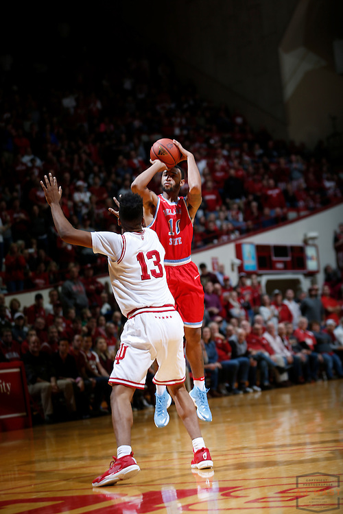 Delaware State forward Kavon Waller (10) in action as Delaware State played Indiana in an NCCA college basketball game, in Indianapolis, Monday, Dec. 19, 2016. (AJ Mast)